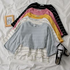 MIMITO - Striped Long-Sleeve T-Shirt