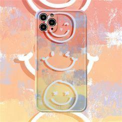 Witheart - Smiley Print Phone Case - iPhone 11 Pro Max / 11 Pro / 11 / SE / XS Max / XS / XR / X / SE 2 / 8 / 8 Plus / 7 / 7 Plus