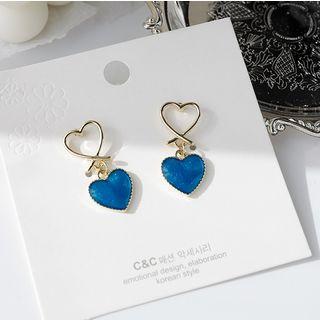 Seoul Young - Glaze Heart Dangle Earring