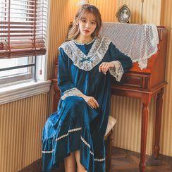 Ciambella - Long-Sleeve Fleece Pajama Dress