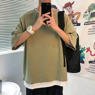 FOEV - Mock Two-Piece Short-Sleeve T-Shirt