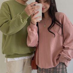 MERONGSHOP - COUPLE Boxy Sweatshirt in 11 Colors