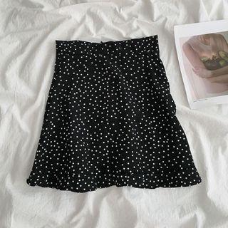 EROPIA - High-Waist Polka Dot A-Line Skirt