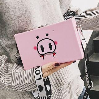 Shinian - Animal Print Box Crossbody Bag