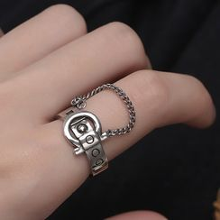 CatSoul - Chained Belt Alloy Open Ring