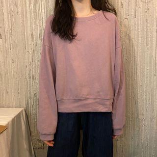 Anlay - 純色短款衛衣