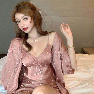 Bravvo - 圆点娃娃家居服上衣 / 连衣裙 / 短裤 / 七分袖睡袍 / 套装