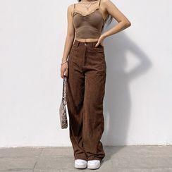 Dictynna - Corduroy Wide-Leg Pants