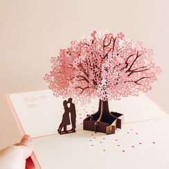 Ms Zaa - 3D Sakura Valentine's Day Greeting Card