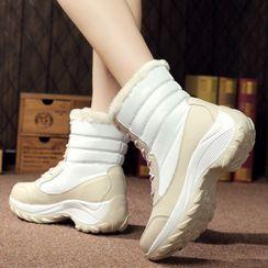 MARTUCCI - Lace Up Short Snow Boots
