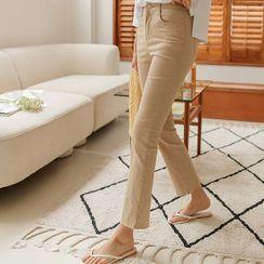 JUSTONE - Fray-Hem Summer Boot-Cut Pants