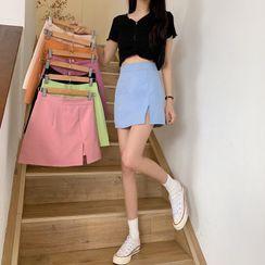 Mikiko - 侧开衩迷你铅笔裙