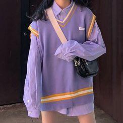 Tonni's - Couple Matching Knit Vest / Shirt