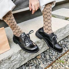 锦洋鞋业 - 真皮低跟牛津鞋