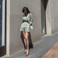 DABAGIRL - Blazer & Top & Shorts Summer Office Look Set