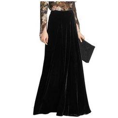 Oscuro - Velvet Maxi Skirt