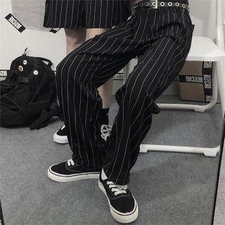 MAPOGO - Striped Wide-Leg Pants / Shorts