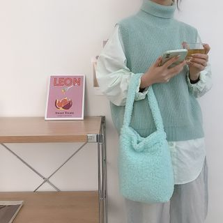 TangTangBags(タンタンバッグズ) - Plain Fleece Handbag
