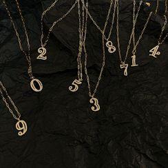 Beanteenie - Alloy Numerical Pendant Necklace