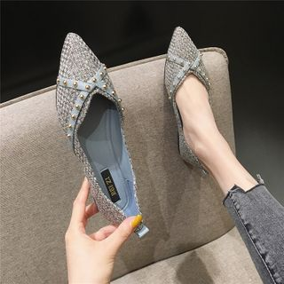 The Shoe House - Pointed Studded Flats