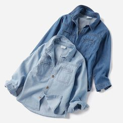 Happy Go Lucky - Kids Long-Sleeve Denim Shirt