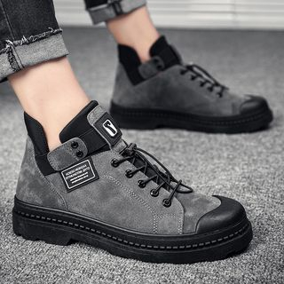 Chaoqi - Lace Up Ankle Boots
