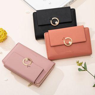 lunacove - Plain Faux Leather Wallet