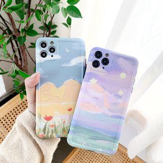 Vachie - Painting Print  Phone Case - iPhone 11 Pro Max / 11 Pro / 11 / XS Max / XS / XR / X / 8 / 8 Plus / 7 / 7 Plus / 6s / 6s Plus