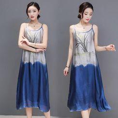 Sienne - Print Strappy Midi Chiffon Dress