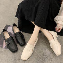 Parfaye - Plain Knot Block Heel Loafers