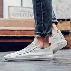 MARTUCCI - Lettering Lace Up Canvas Sneakers