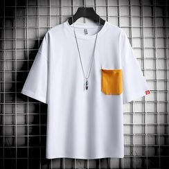Ninine - Short-Sleeve Pocketed T-Shirt