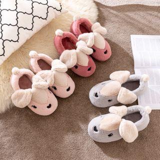 EMERY.V - Rabbit Fleece Home Slip-Ons
