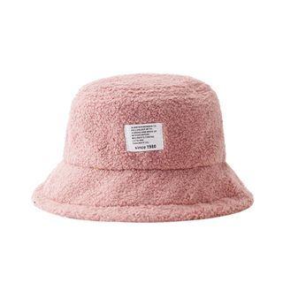 HARPY - Applique Shearling Bucket Hat