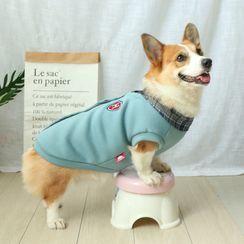 BobaBelle - 翻领仿两件宠物上衣