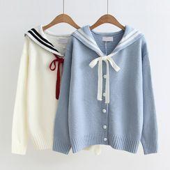 白金天使 - 水手領開衫