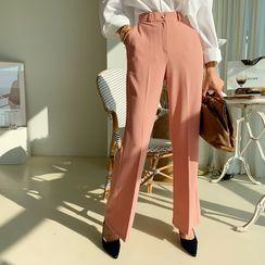 NANING9 - Semi Boot-Cut Dress Pants