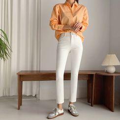 Envy Look - Hidden Band-Waist Straight-Cut Pants