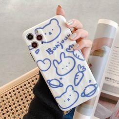 Hachi - Animal Print Phone Case - iPhone 11 Pro Max / 11 Pro / 11 / XS Max / XS / XR / X / 8 / 8 Plus / 7 / 7 Plus / 6s / 6s Plus