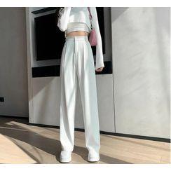Yupina - High-Waist Wide-Leg Dress Pants