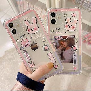likamika - Bear / Rabbit Print Transparent Mobile Case - iPhone 13 Pro Max / 13 Pro / 13 / 13 mini / iPhone 12 Pro Max / 12 Pro / 12 / 12 mini / 11 Pro Max / 11 Pro / 11 / SE / XS Max / XS / XR / X / SE 2 / 8 / 8 Plus / 7 / 7 Plus