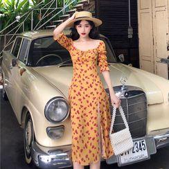 12th Tone - Elbow-Sleeve Floral Sundress