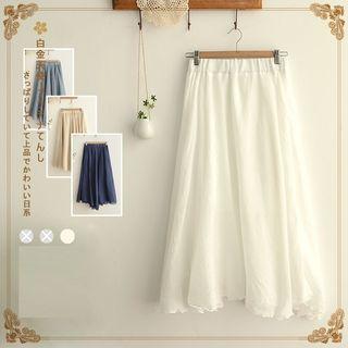 Angel Love - Asymmetric Hem Midi Skirt