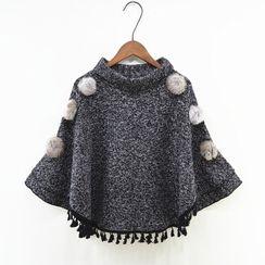Bubawa - 仿毛球球裝飾套衫