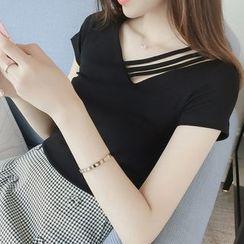 Carmenta - Short-Sleeve Asymmetric T-Shirt
