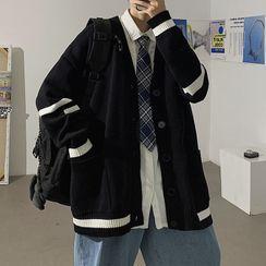 百高 - 条纹开衫