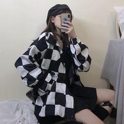 Giuliana - Checkered Zip Jacket