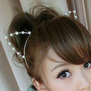 懒角落 - 饰珠猫耳髪箍