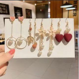 Gold Beam - Set of 5: Drop Earring