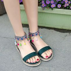 Cinnabelle - Beaded Roman Sandals